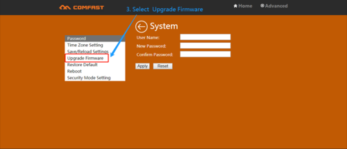 Comfast extender firmware update
